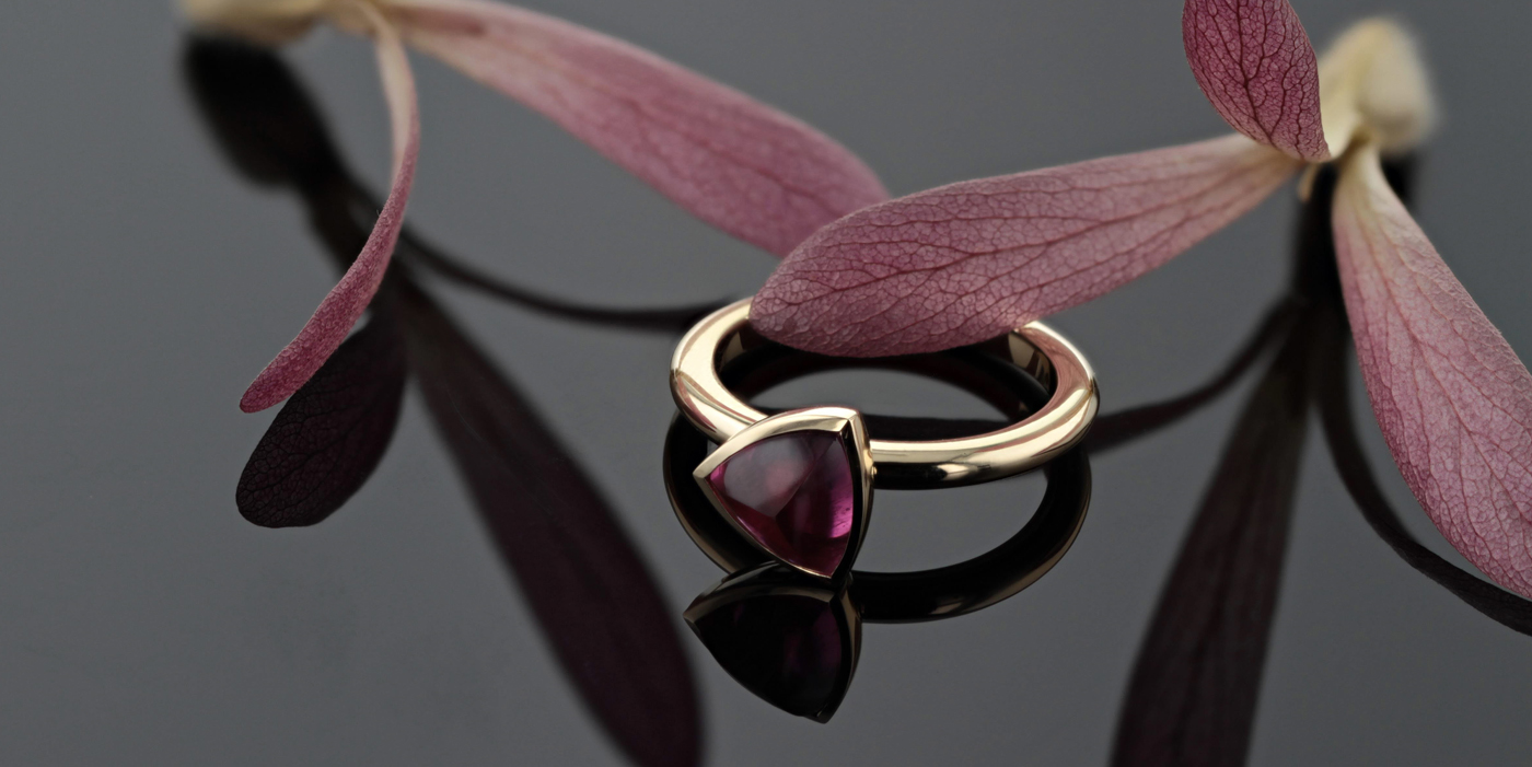 Tourmaline ring in gold,made in Mauritius