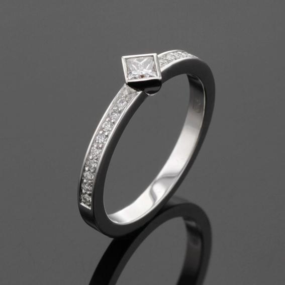 Diamond engagement ring , princess cut