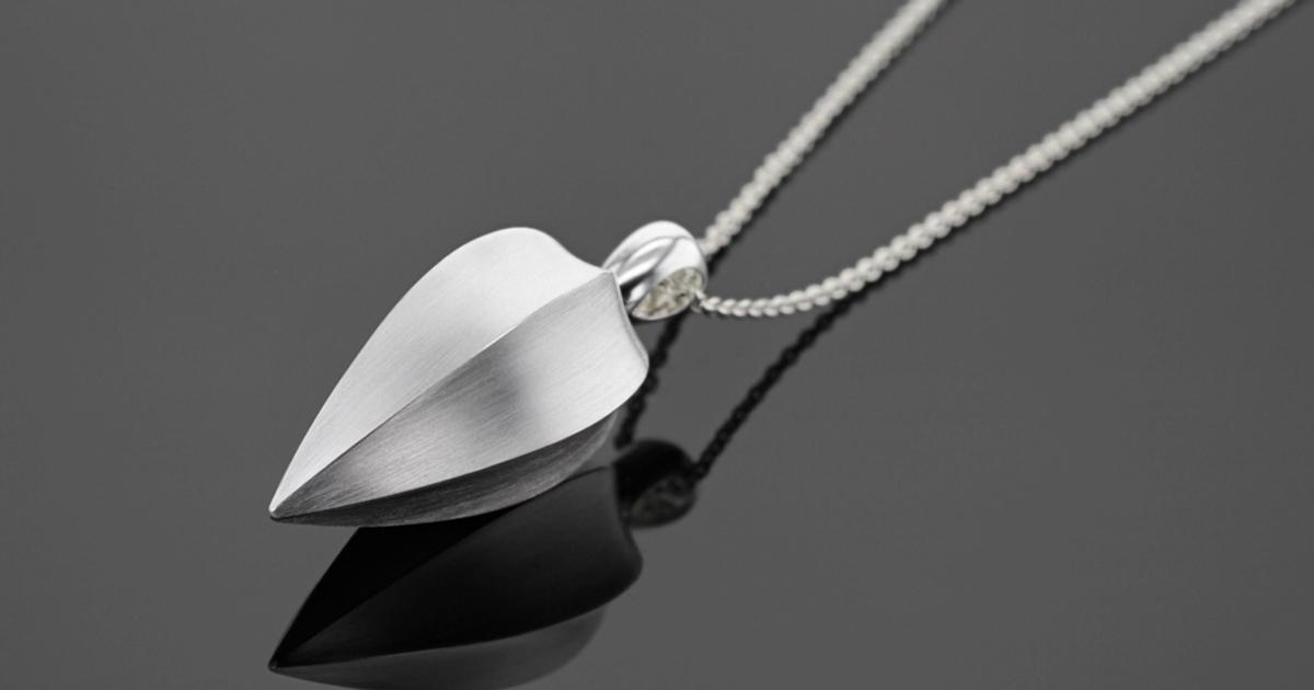 Modern silver pendant