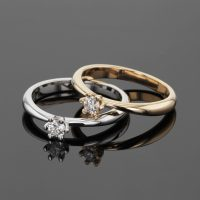 gold engagement rings with diamonds ,Mauritius