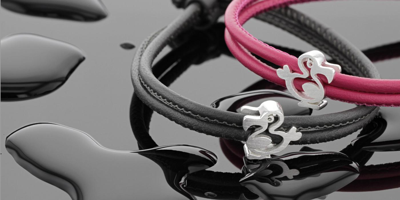 leather bracelet, silver dodo souvenir,Mauritius