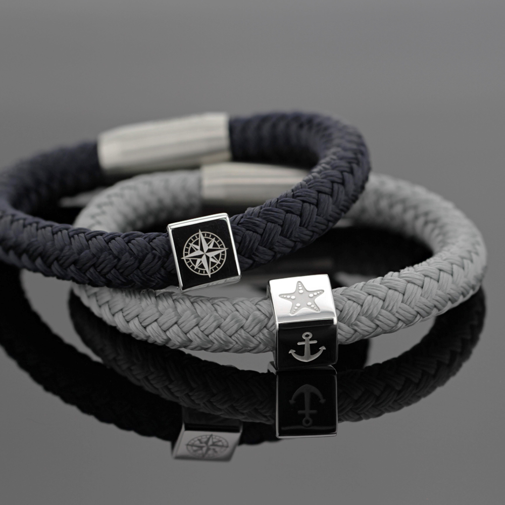 bracelet for men with silver elements, Mauritius
