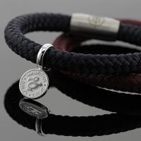 Bracelet for men with silver Dodo charm.