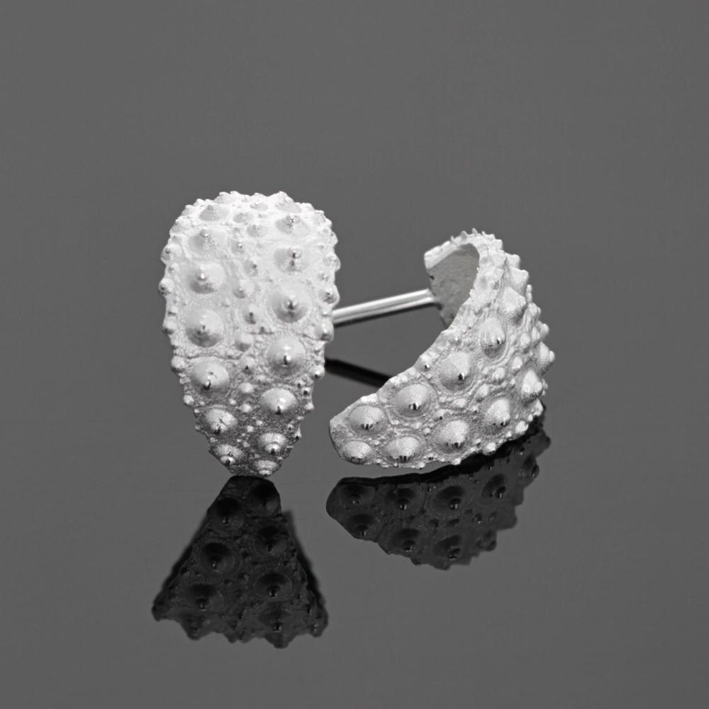 sea urchin earrings, Mauritius