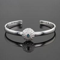 Mauritius sea urchin bracelet in silver