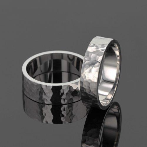 Unique textured wedding rings Mauritius