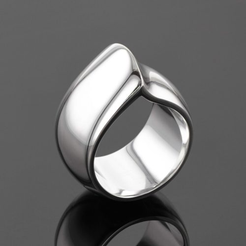 Silver ring polished Mauritius