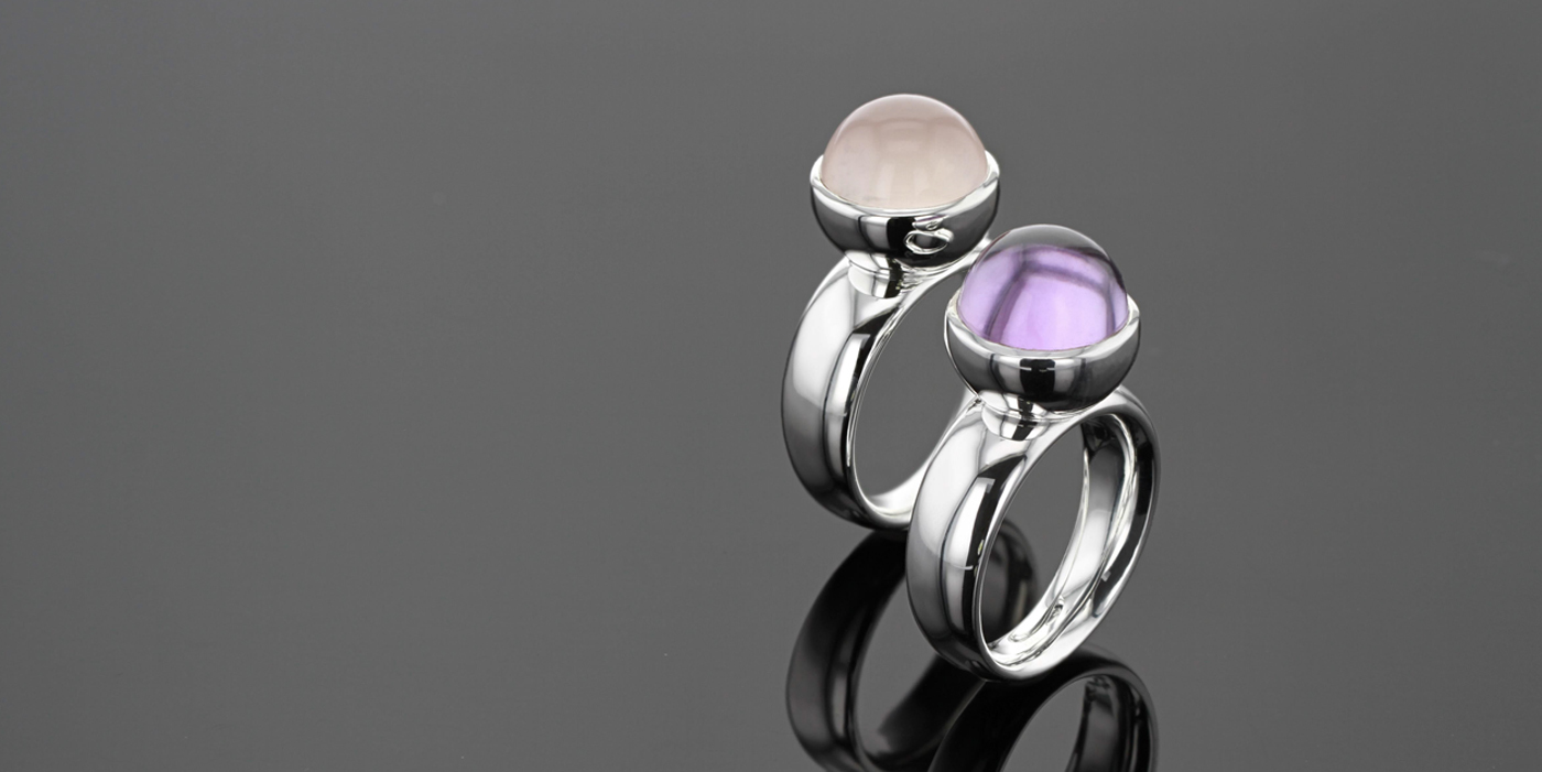 Rose Quartz and Amethyst jewellery Mauritius