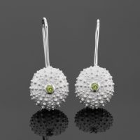 Sea urchin hook earrings