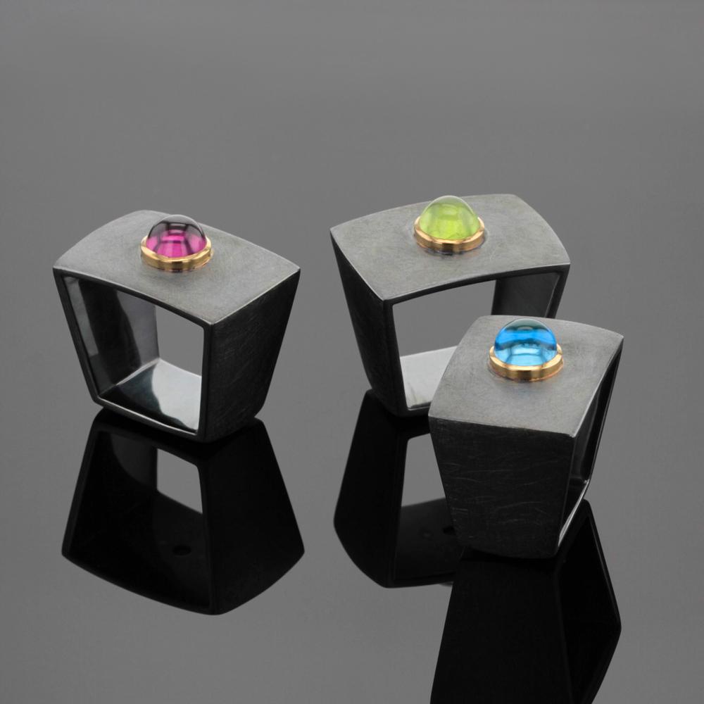 Black silver rings Mauritius