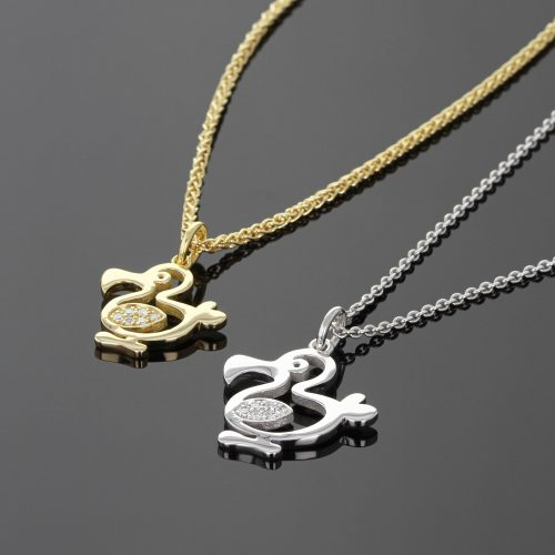 18ct gold and diamond dodos