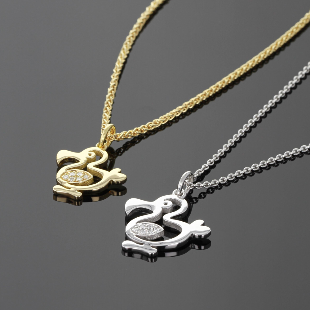 18ct gold and diamond dodos