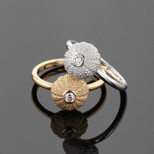 Gold sea urchin jewellery - Mauritius