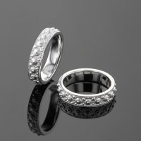 Silver sea urchin rings Mauritius