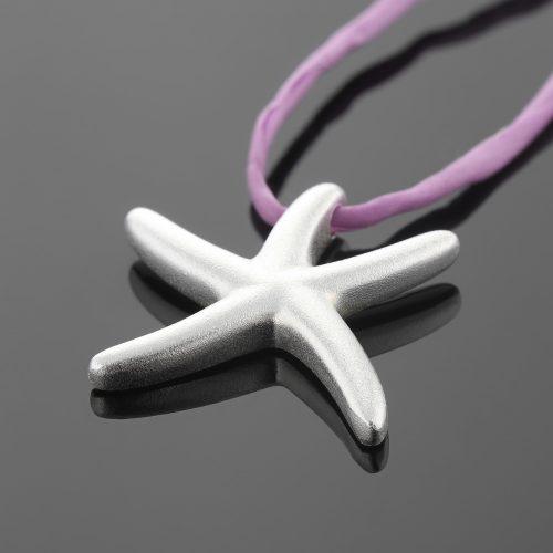 Solid silver seastar pendant