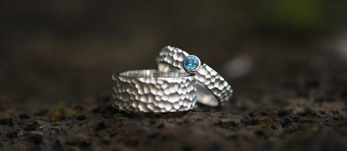 Unisex silver rings