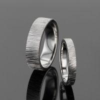 Unique custom made wedding rings